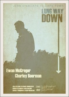 Long Way Down (2007) ~ Minimal TV Series Poster by Roxana Gark #amusementphile