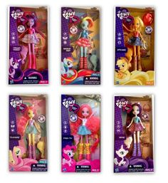 My Little Pony Equestria Girls Mane 6 Basic Collection: Twilight Sparkle, Rarity, Pinkie Pie, Rainbow Dash and Fluttershy and Applejack -Click image twice for more info - See a larger selection of little pony at http://zkidstoys.com/product-category/little-pony-toys/ -kids, baby,toddler,child,children, kids gift ideas, baby gift ideas, toys, christmas,holidays,