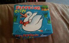 Vintage Wind Up Toy Flapping Goose #549 w/ Original Box Japan Fuji Press Kogyosh