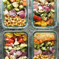 2 for 1 Meal Prep: Chickpea Buddha Bowls & Greek Chicken Wraps | Sweet Peas and Saffron