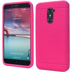 Insten Hot Rugged Soft Skin Rubber Case Cover For ZTE Zmax Pro #2255714