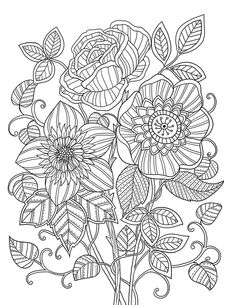 """mon jardin intérieur"" Coloring book agenda 2015 Abstract Doodle Zentangle Coloring pages colouring adult detailed advanced printable Kleuren voor volwassenen coloriage pour adulte anti-stress Flower"
