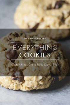 Delicious cookie recipe. Everything but the kitchen sink cookies. Chocolate chip oatmeal cookies. Dairy free cookies, Gluten free cookies. Delicious Cookie Recipes, Easy Cookie Recipes, Yummy Cookies, Oatmeal Raisin Cookies, Chocolate Chip Oatmeal, Clean Eating For Beginners, Clean Eating Recipes, Dairy Free Cookies, Gluten Free Grains