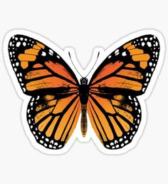 """""""Monarch Butterfly"""" Stickers by EclecticAtHeART Bubble Stickers, Phone Stickers, Cool Stickers, Printable Stickers, Preppy Stickers, Vintage Butterfly, Aesthetic Stickers, Monarch Butterfly, Butterfly Design"""