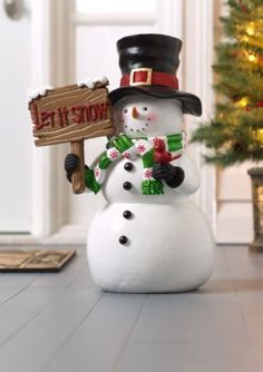 Complete your festive decor with this fun snowman sign. It adds color and fun to your holidays!