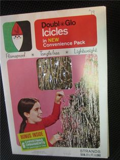 Vintage DOUBL*GLO ICICLES, Christmas Tree TINSEL