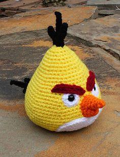Chuck the Angry Bird #amigurumi #free #pattern #crochet #angry #birds