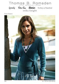DK Cross Over Cardigan pattern by Thomas B. Ramsden & Co