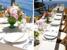 big sur wind sea5 Wind and Sea Big Sur Wedding Ocean view wedding tables Big Sur wedding centerpieces Peer Johnson Photography