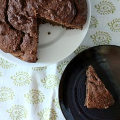 This Banana chocolate cake is moist and chocolatey with 3 bananas. Can be made oil-free. Vegan Recipe