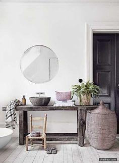 round mirrors | scandinavian + modern bohemian design | velvet moon studio + shop redesign