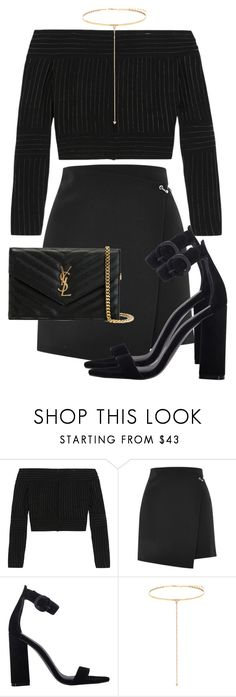 """Untitled #2527"" by mariandradde ❤ liked on Polyvore featuring Barbara Casasola, Topshop, Kendall + Kylie, Shay and Yves Saint Laurent"