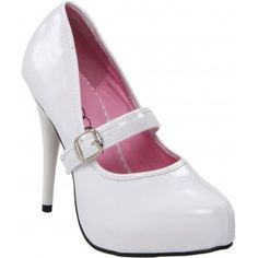 469-LADYJANE Women Round Toe Pump - White