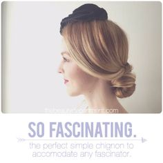 TBDfascinatingheader. A great hairstyle for a formal party or the next big occasion.