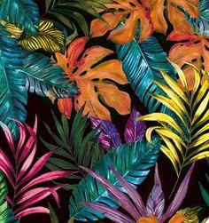 Folhagem Technicolor Strap Sandal - Insecta Shoes - fix. Plant Painting, Plant Art, Gouache Painting, Illustration Inspiration, Abstract Flower Art, Jungle Art, Tropical Art, Tropical Plants, Tropical Flowers