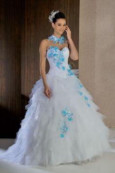 Robe de mariée bleu  ROBES DE MARIEE DE COULEUR  Pinterest ...