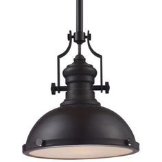 Buy the Elk Lighting Oiled Bronze Direct. Shop for the Elk Lighting Oiled Bronze Chadwick Single Light Wide Pendant with Round Canopy and Bronze Metal Shade and save. Foyer Lighting, Elk Lighting, Kitchen Lighting, Lighting Ideas, Cottage Lighting, Farmhouse Lighting, Bronze Pendant Light, Modern Pendant Light, Pendant Lights