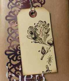 Plant rubber stamp / Branch of an acorn / Unmounted by MAKIstamps, €5.80