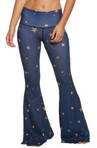 e69a4f05a877e Teeki Blue Great Star Nation Bell Bottom Yoga Pants 8165250 Bell Bottom Yoga  Pants, Bell