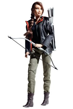 Katniss Barbie, I hope she comes with Kid-Sister Rue with detachable spear in her chest