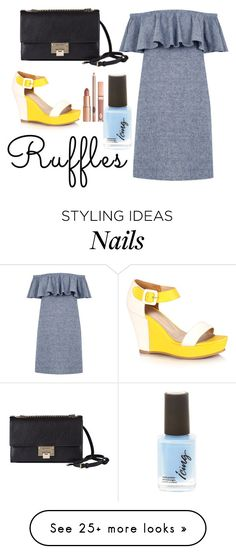 """""""Untitled #1503"""" by carson729 on Polyvore featuring Warehouse, Jimmy Choo, Dolce Vita and ruffles"""