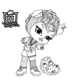 Baby Monster High Coloring Pages | Baby Howleen by *JadeDragonne on deviantART