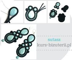 Technika Sutasz – jak to się robi krok po kroku Paula Ordovás, Soutache Tutorial, Soutache Jewelry, Diy Tutorial, Earrings Handmade, Jewerly, Vogue, Beads, Exterior