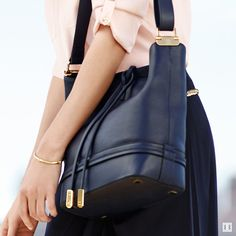 An easy-to-wear work look from the Ivanka Trump spring collection #bucketbag