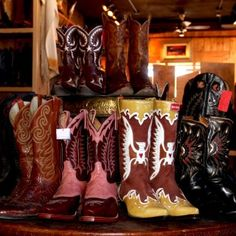 boots at 'Double Take' consignment shop, Santa Fe, New Mexico Cowboy And Cowgirl, Cowgirl Boots, Santa Fe, Resale Store, Land Of Enchantment, Consignment Shops, Dance Hall, Double Take, Girl Swag