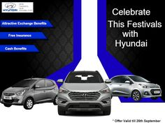 This festive season drive home your favorite Hyundai car and get excited offer.. Offer valid till 26th September.Visit your nearest Mukesh Hyundai showroom to get the offer.