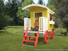 gypsy garden shed yellow kids play house outdoors for children