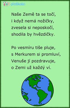 den zeme - Hľadať Googlom Save The Planet, Earth Day, Global Warming, Holidays And Events, Kids And Parenting, Preschool, Classroom, Songs, Teaching
