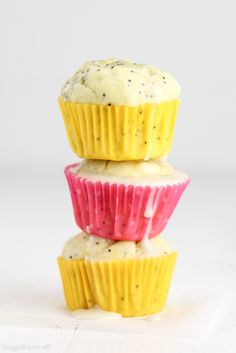 Healthy Lemon Poppy Seed Muffins recipe is super moist made with clean ingredients, gluten-free, dairy-free and low-sugar. 86 calories per muffin!