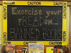 The Teen Advisory Board at Columbus Public Library put together a Banned Books display (Katrina Dombrowsky)