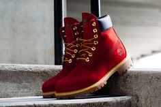 Timberland Drops the 6 inch Boot in Premium 'Patriotic Red' Colorway - EU Kicks: Sneaker Magazine