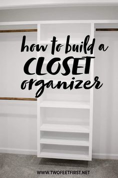 How to Build an Easy DIY Closet Organizer: Build to Organize Challenge Do you want an easy and budget-friendly closet system? Use this tutorial to see how to build a DIY closet organizer. This organizer is perfect for a s. Plywood Furniture, Cheap Furniture, Gothic Furniture, Furniture Market, Deco Furniture, Repurposed Furniture, Furniture Stores, Industrial Furniture, Discount Furniture