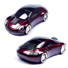 e235eedb13e 3D 2.4GHz Wireless 1600DPI Usb Optical Gaming Sport Car Shape Mouse Mini  Mice For PC Laptop Computer Headlight and Tail Light-Up