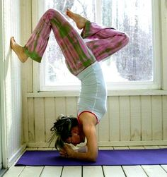 Inverted Wall Yoga Pose