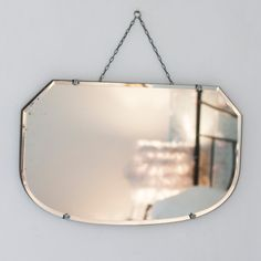 This Vintage Bevelled Edge Chained Mirror from The Other Duckling is sleek & smart and would make a stylish home accessory addition to a swish modern home.