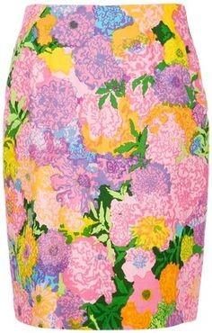 Ken Scott Vintage floral printed skirt // Summertime // #pastels #flowers