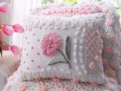 almohadas colchas chenille