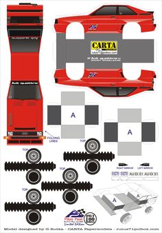 ¡Descarga uno de nuestros modelos armables!  Quattro S1