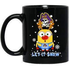 East Carolina Pirates Minion Christmas Mug Let It Snow Coffee Mug Tea Mug