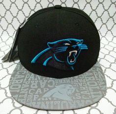 Carolina Panthers New Era NFL Rare Flat Brim Fitted Hat Cap 7 3 8 Black    Blue  NewEra  BaseballCap  CarolinaPanthers afe2864fce8e