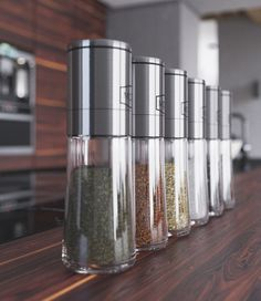 spices on the kitchen table
