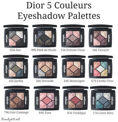 Dior 5 Couleurs Eyeshadow Palettes Fall 2014-group.  I need  056, 156, 166, 646, 796, 846,and 876 in my life. Especially 156 and 166!!!!