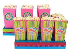 Bolsa de palomitas para fiestas de XV años. Barra de dulces
