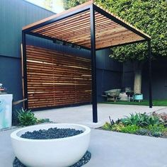 A pergola gives a secluded region and shade in the summertime. A pergola is something which will fall in that category. Then pergola is a superb choice. There's nothing quite like a gorgeous, modern-day pergola in order to add value… Continue Reading → Pergola Patio, Pergola Swing, Wooden Pergola, Pergola Shade, Patio Roof, Backyard Patio, Backyard Landscaping, Pergola Ideas, Pergola Canopy