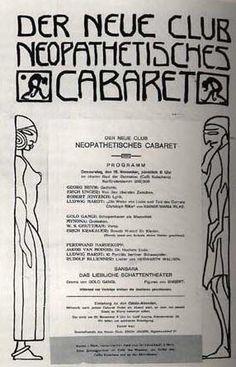 Program of the 'Neopathetic Club' Cabaret, Georg Heym, Berlin, Club, Expressionism, Lyric Poetry