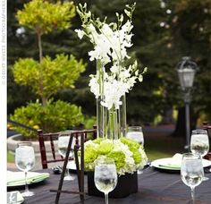 tall tube centerpieces - Google Search